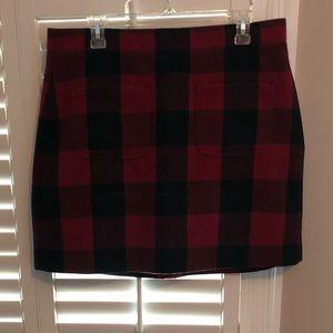 NWOT J. Crew Buffalo Plaid Patch Pocket Mini Skirt